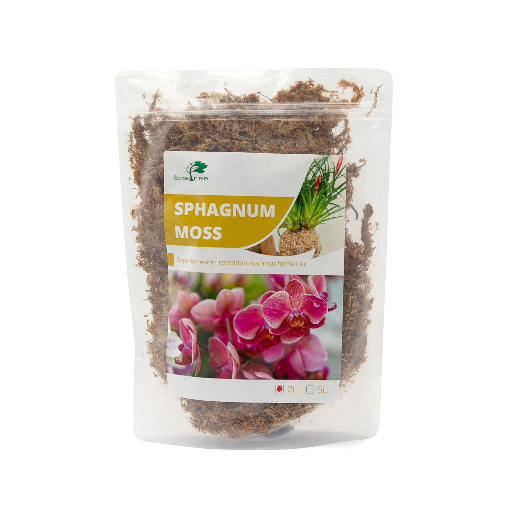 Sphagnum Moss, rehydrated -  2L bag Sphagnum Moss - Growing Mediums