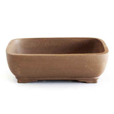"8"" Chinese Unglazed Containers -  Soft, Rounded Rectangular, 21 x 17 x 6cm - Pots"