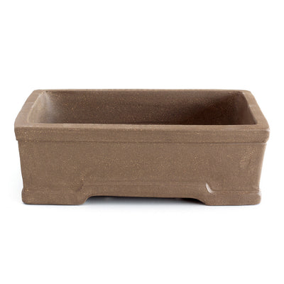 "6"" Chinese Unglazed Containers -  Formal Rectangular, 16 x 12 x 6.5cm - Pots"