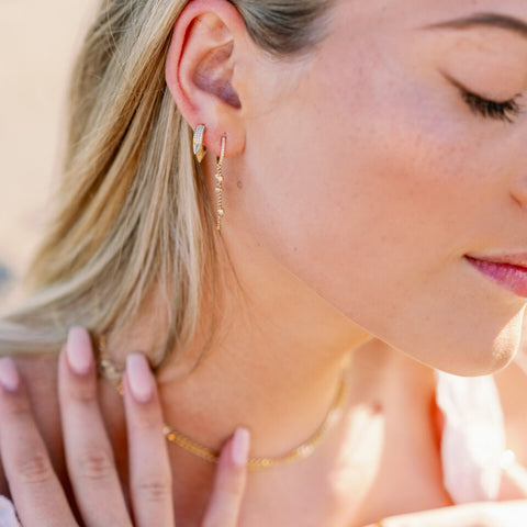Earrings: AD Luxe