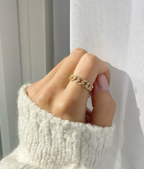 SOPHIA Chain Link Ring