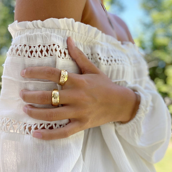 MARLEE WAX CARVED STACKING RINGS