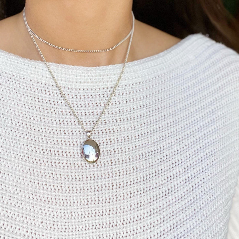 THEA OVAL Locket Necklace