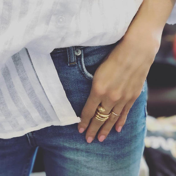CELINE GOLD SERPENTINE RING