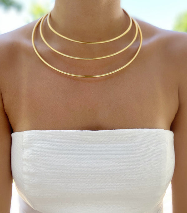 Lucy Triple Banded Cuff Necklace