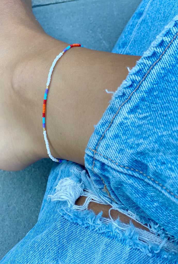 STELLA BEADED ANKLET
