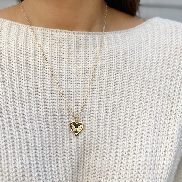 LIA Angel Wings Heart Necklace