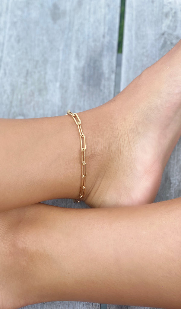 THE BIG LINK - GOLD FILLED - Anklet