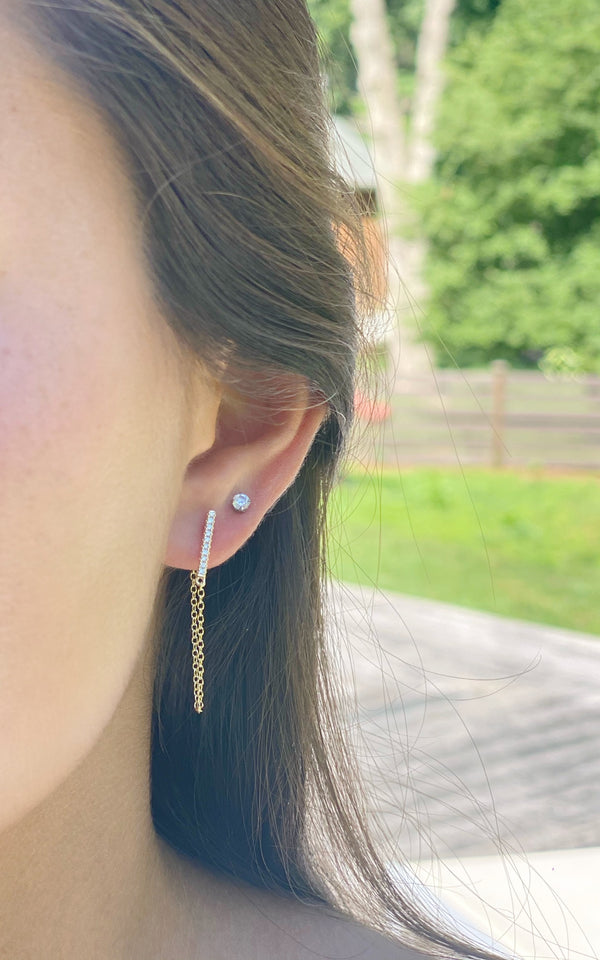 Kelly Pave Earring