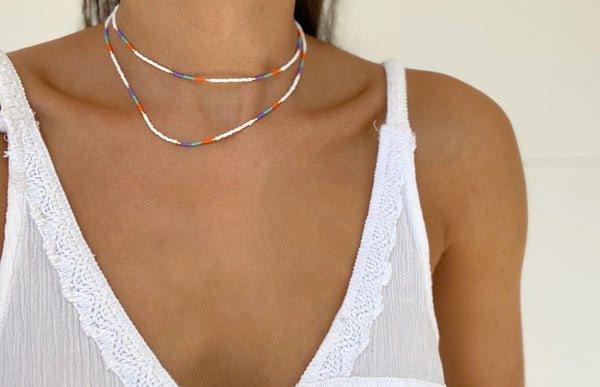 COLOR WAR Beaded Necklace