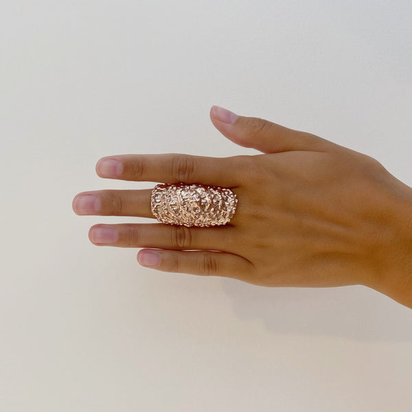 EXOTIC CRAVED RING - ROSE GOLD