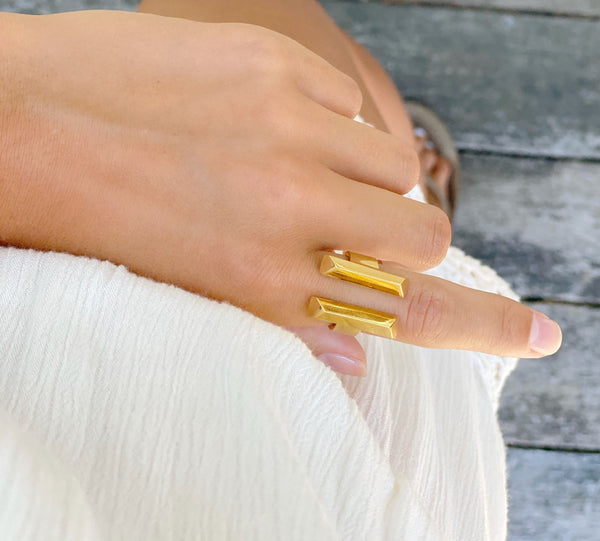 MANDEE Parallel Bar Statement Ring
