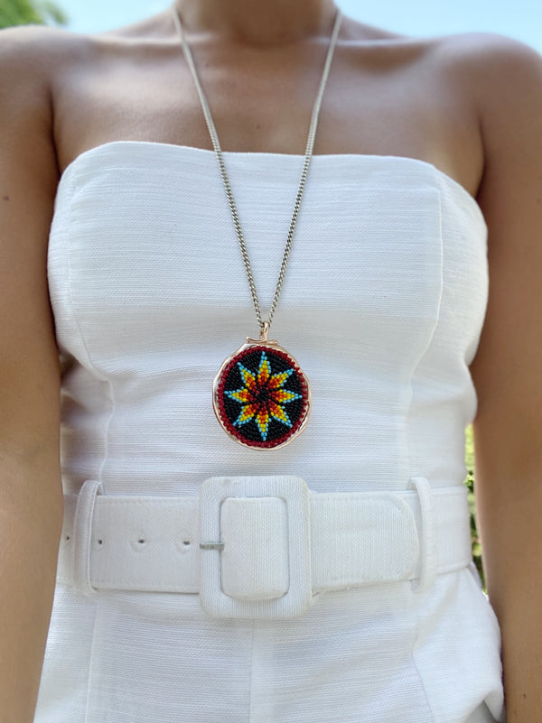 ALEXX Beaded Rosette Necklaces