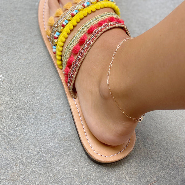 THE SMALL LINK - GOLD FILLED - Anklet