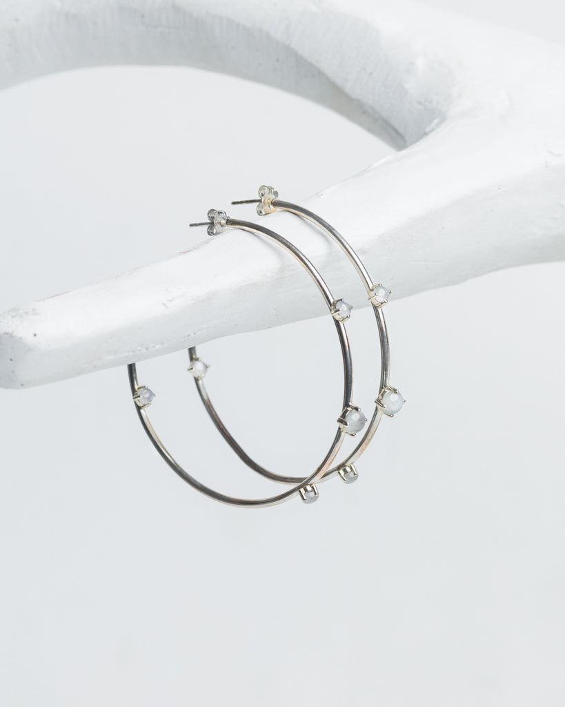 MELINA Hoop Earrings - Silver