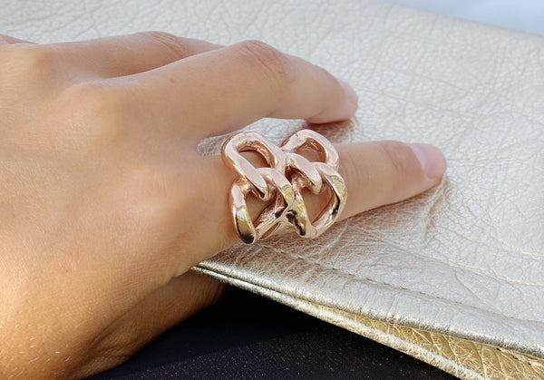 CHASE DOUBLE CHAIN RING
