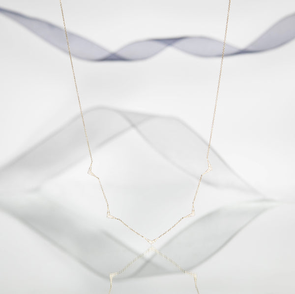 RUMOR Diamond Triangle Necklace