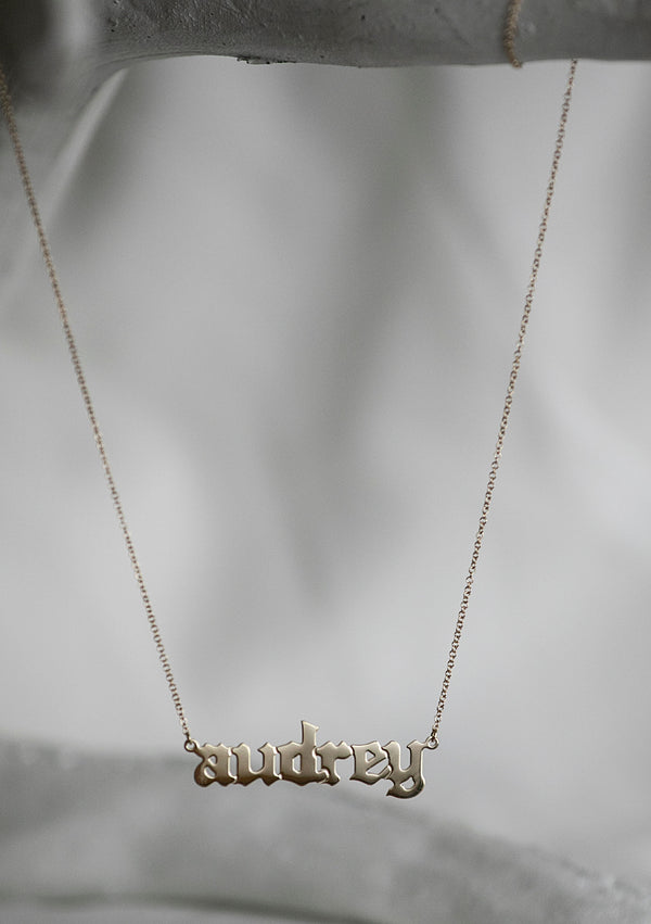 Custom Old English Necklace