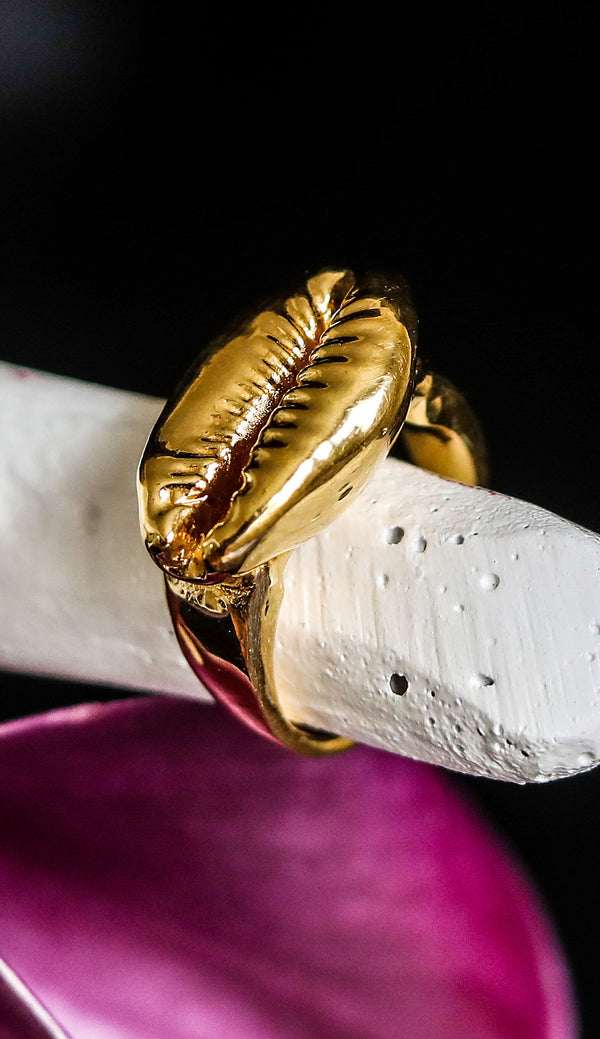GOLDA COWRIE Shell Ring