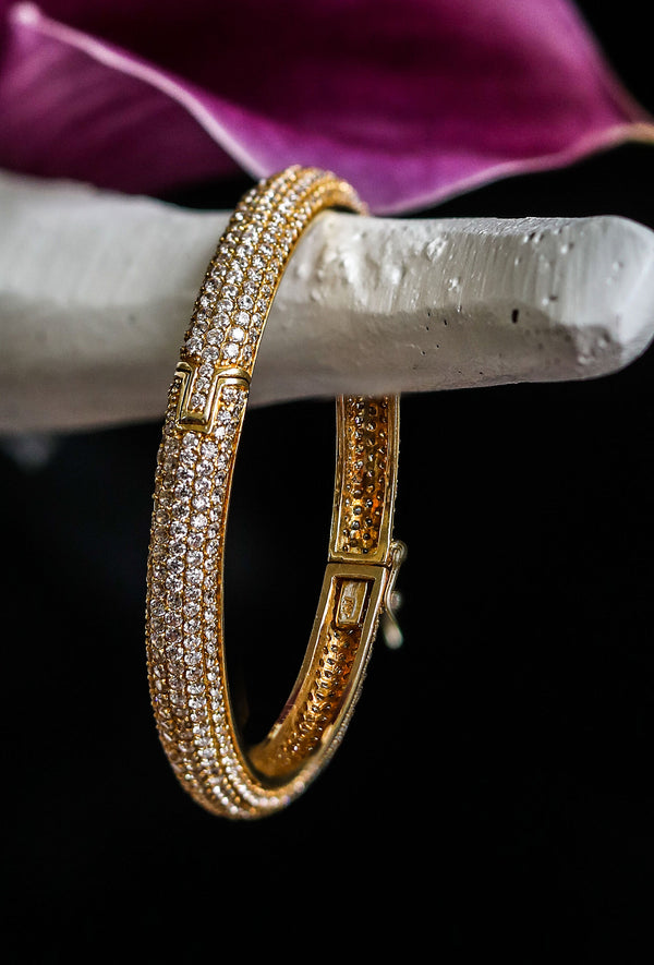 ENRICA Crystal Pave Bangle Bracelet