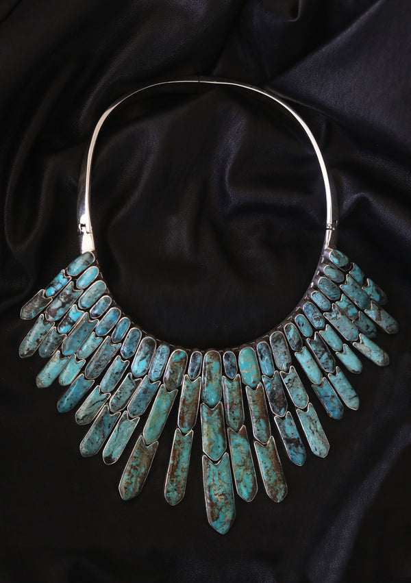 MARTI Turquoise Statement Necklace
