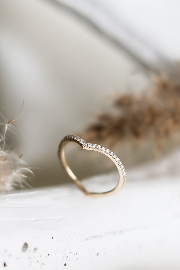 DELILAH  HEART Shaped Band Ring