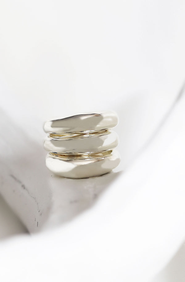 CASEY Stacking Rings - Sterling Silver