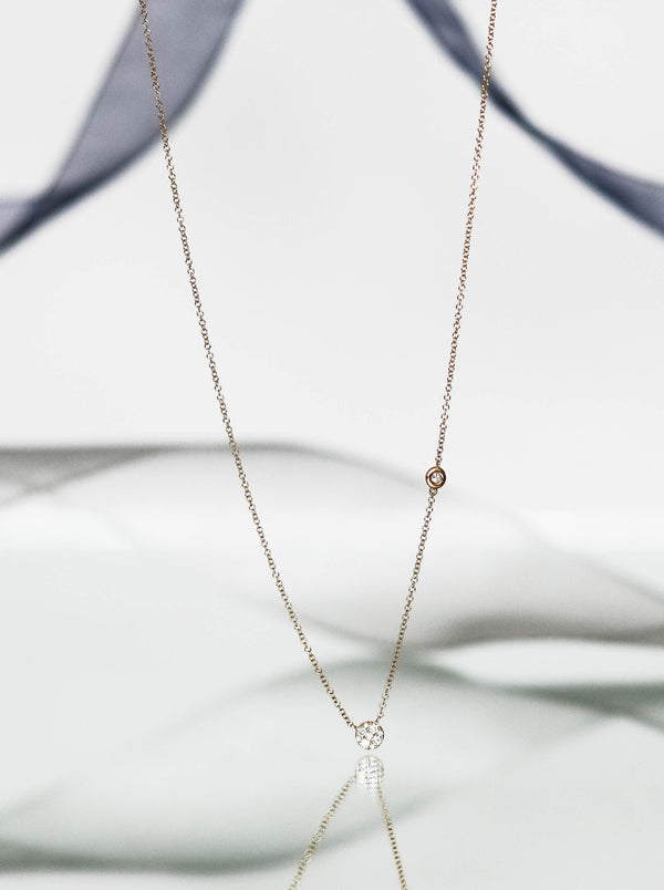 Daimond Disc Drop necklace