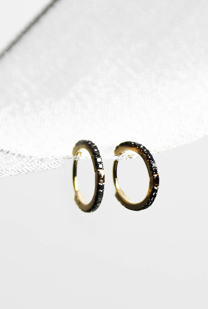 BLACK SEA 14K Gold Huggies