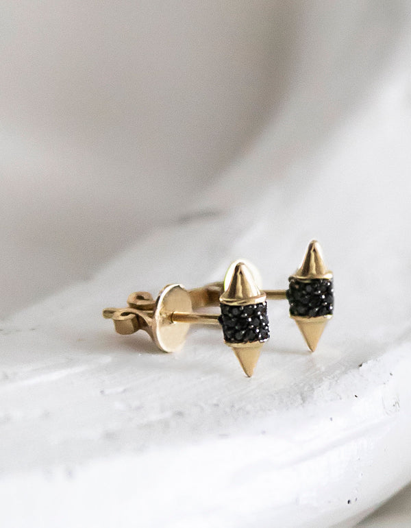 Shield Spike Stud Earrings