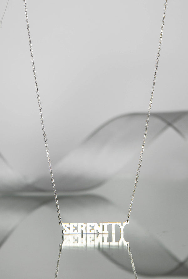 SERENITY Nameplate Necklace