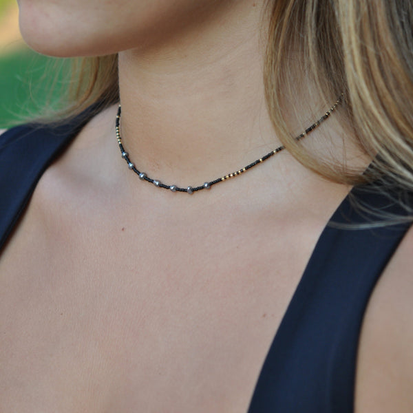 SHALONA Beaded  Pearl Necklaces - 14""