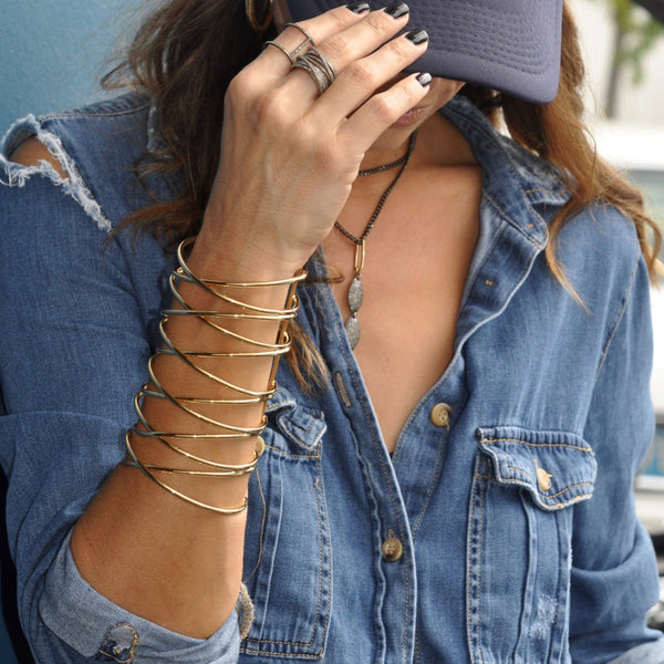 Jade Lace-up Cuff