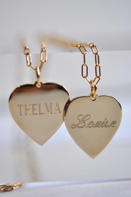 THELMA & LOUISE double-sided heart necklace