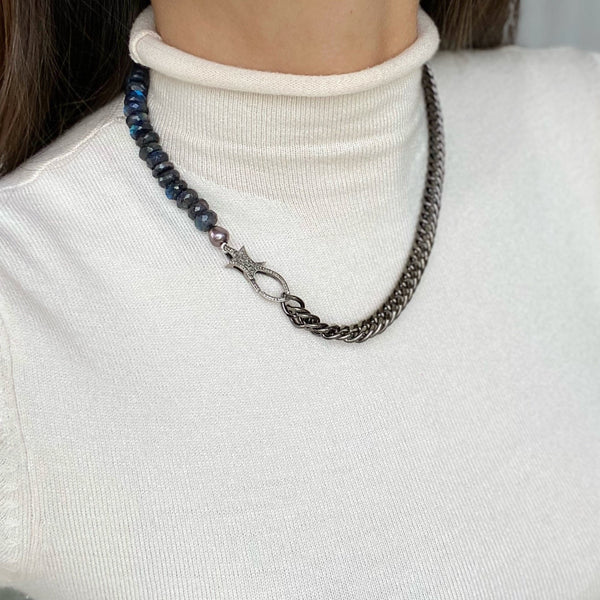 EMLIA Link Chain /Beaded necklace
