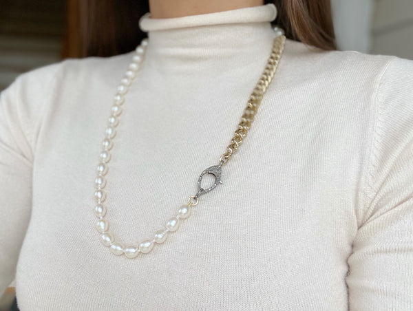 SYDNEY Link Chain/Beaded Necklace