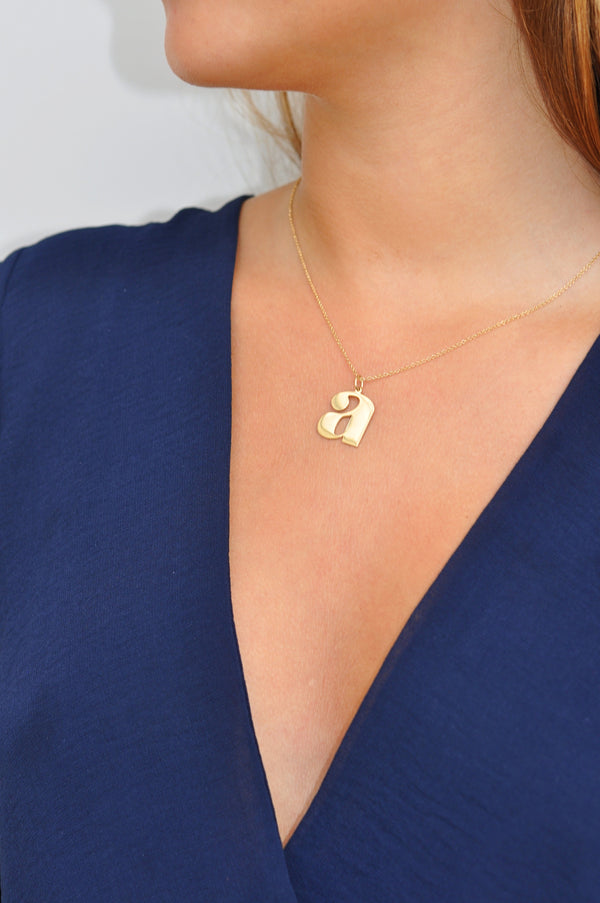 BOLD a Initial Necklace