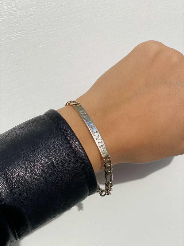 GRATEFUL ID Chain Link Bracelet