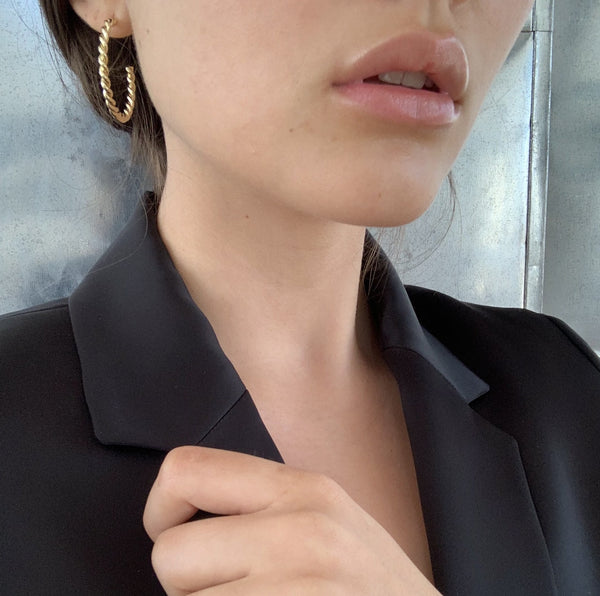 French Twist Hoops