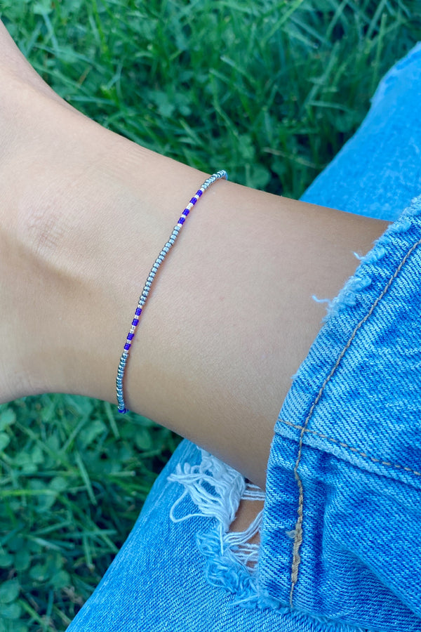 GREY PARKER Beaded Anklet