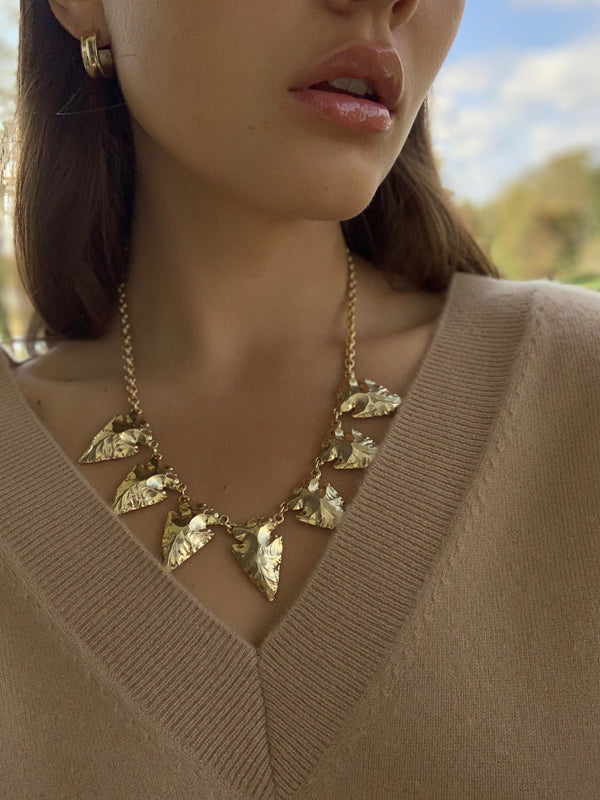 ANA Arrowhead Statement Necklace