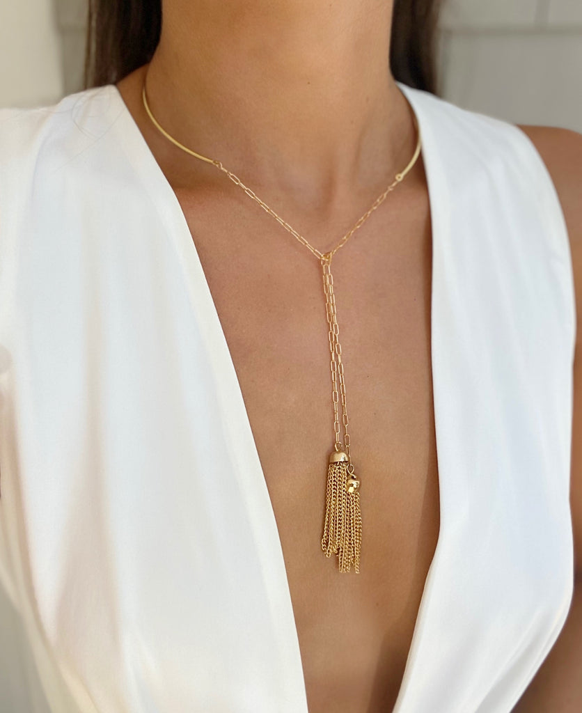 MARLEY Tassel Drop Necklace