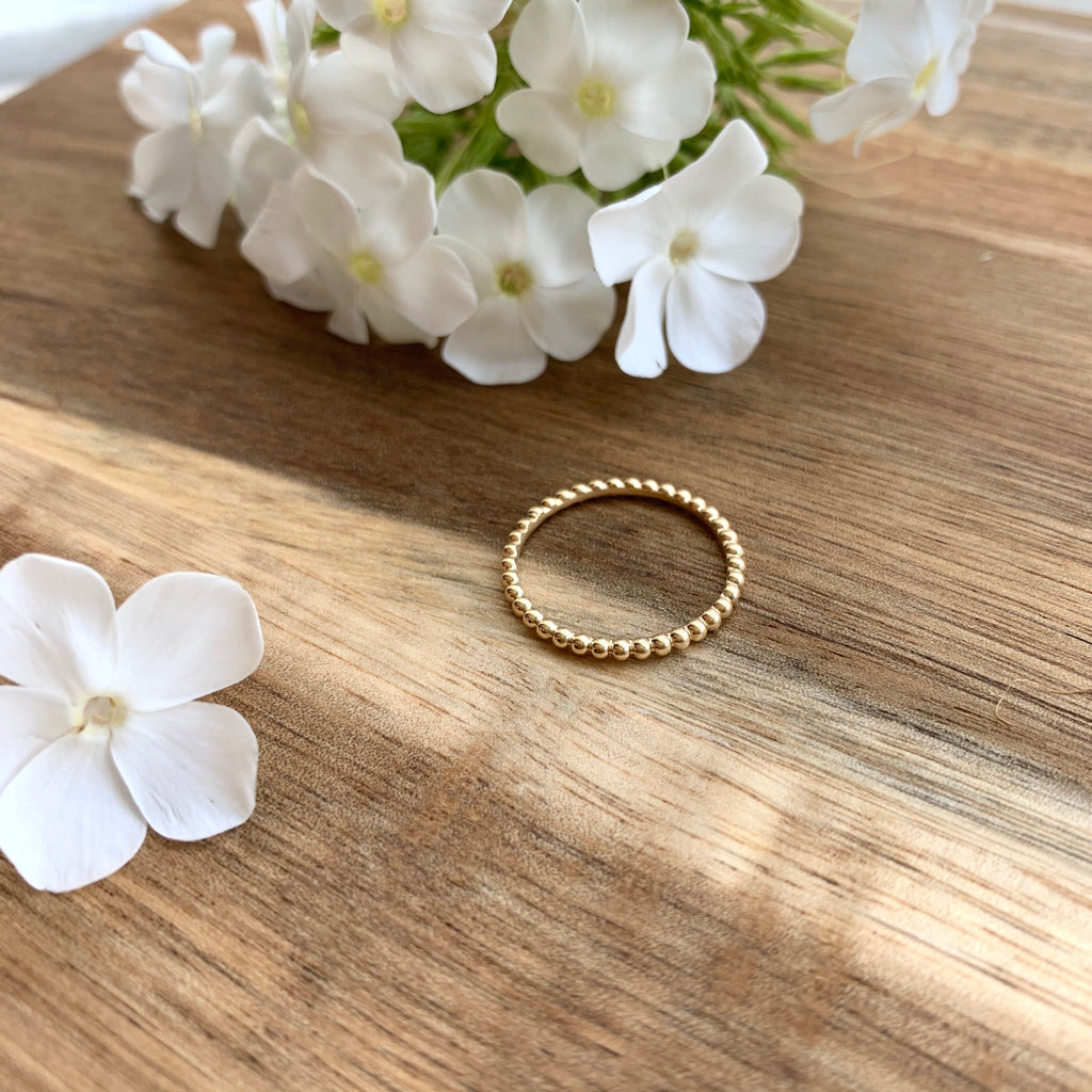 SHIRA beaded eternity ring