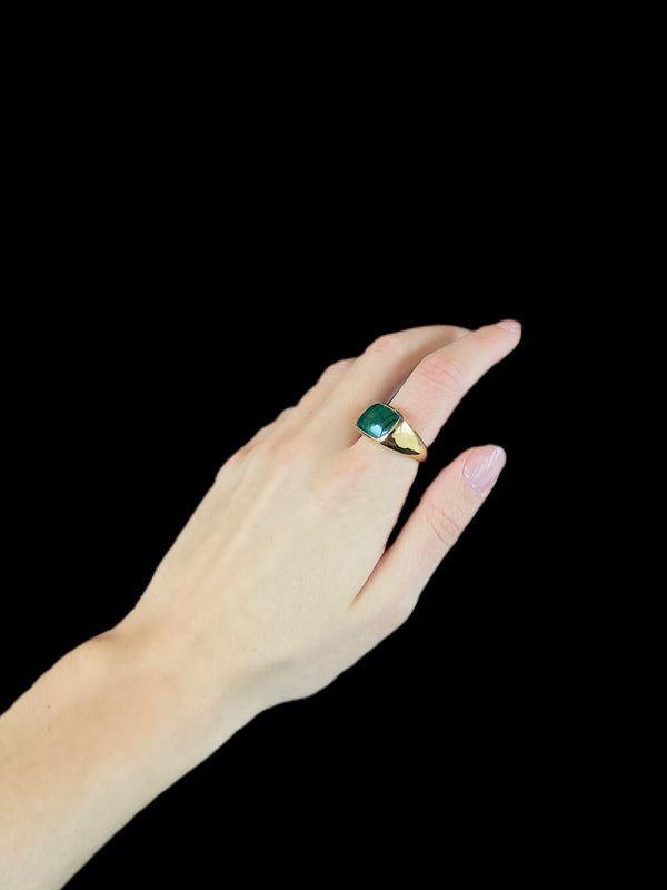 FRIEDA Malachite Stone Ring