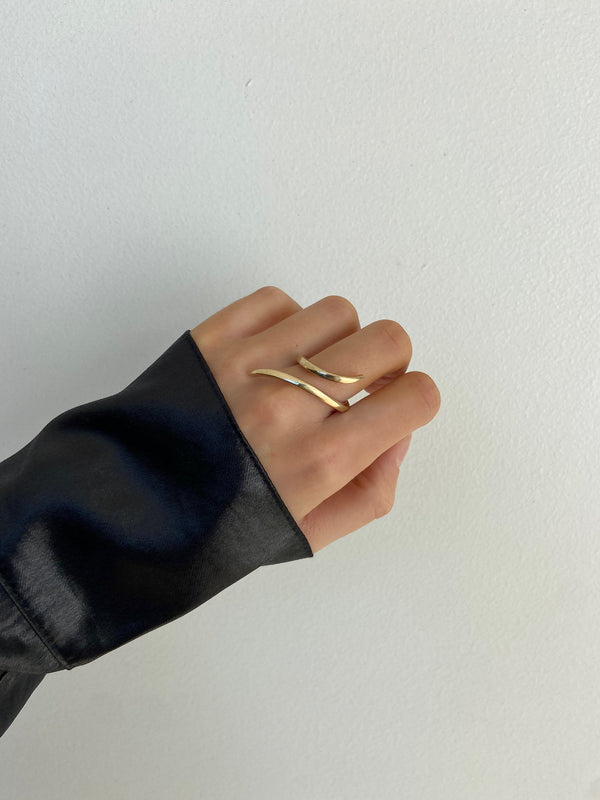 SIERRA 14k Gold Wrap Ring - STATEMENT