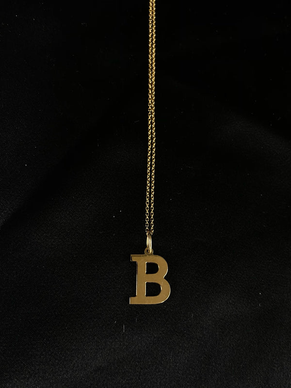 B Initial Necklace