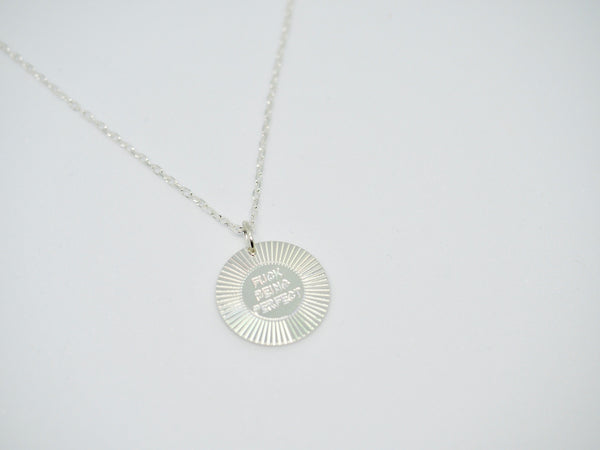 F*CK BEING PERFECT Disc Necklace