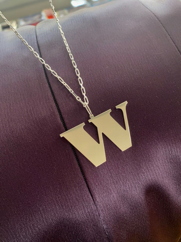 W - Bold Initial Necklace