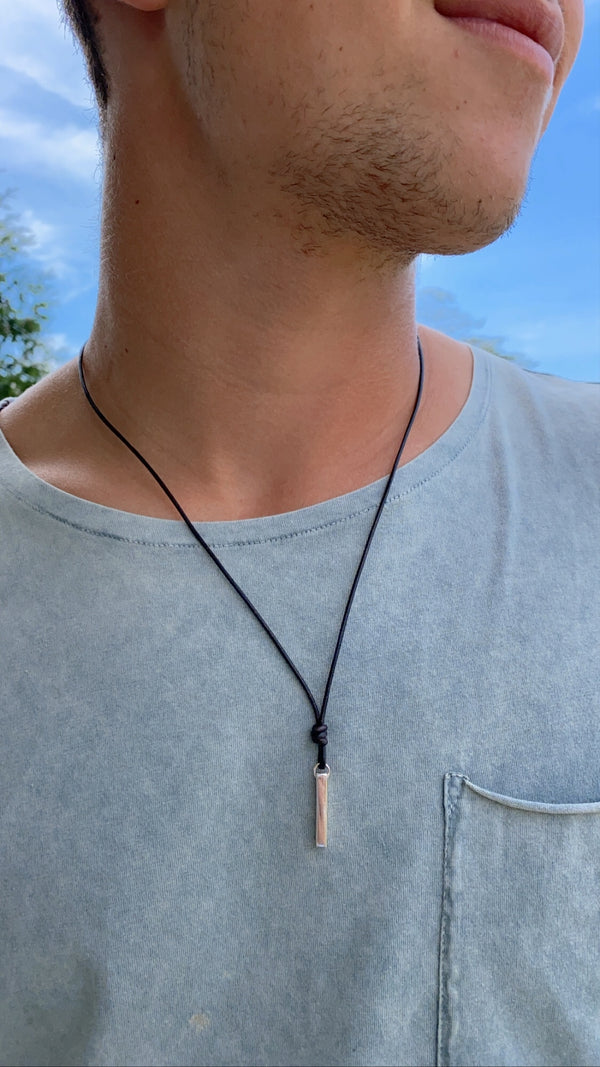 MENS RECTANGLE - necklace