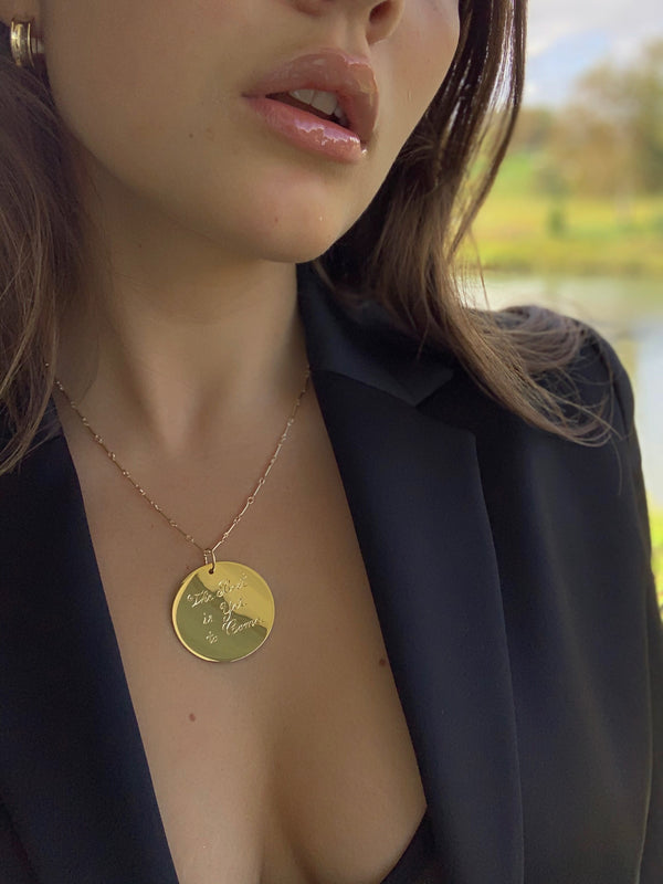 THE BEST IS YET COME Disc Necklace